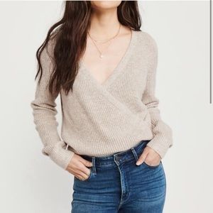 Abercrombie Wrap Front Sweater